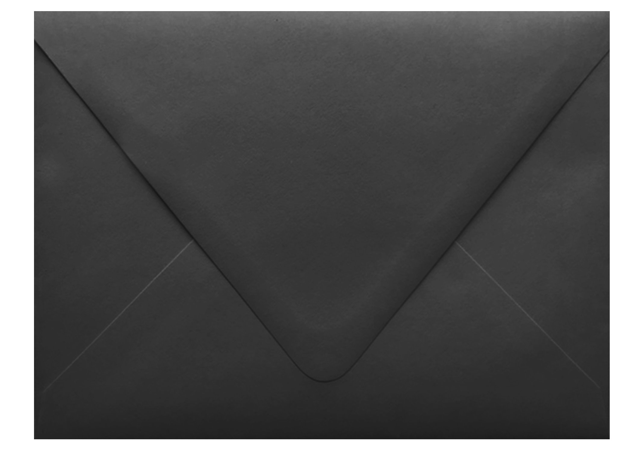 Jet Black Contour Euro Flap 100 Boxed A7-70lb Envelopes (5-1/4 x 7-1/4) for 5 x 7 Invitations Announcements Weddings Showers Communion Confirmation Cards by The Envelope Gallery