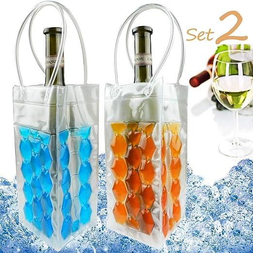 Rapid Ice enfriador de vino, enfriador de botella de vino de gel ...