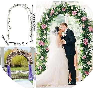 Arcos de hierro para decoración de marco de pérgola de jardín, soporte de flores, globo de boda, arco, blanco DIY decoración de fiesta: Amazon.es: Bricolaje y herramientas