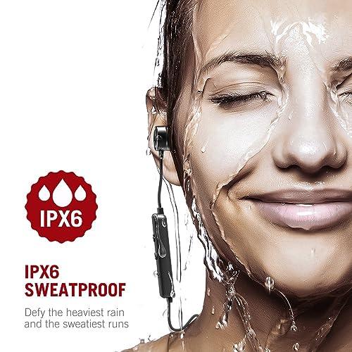 TaoTronics Bluetooth Headphones, Earphones Sport Earbuds In Ear Headset Sweatproof for Running TT-BH027