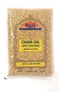 Rani Chana Dal (Split Desi Chick Peas) Lentils Indian 2lb (32oz) ~ All Natural | Gluten Friendly | NON-GMO | Vegan