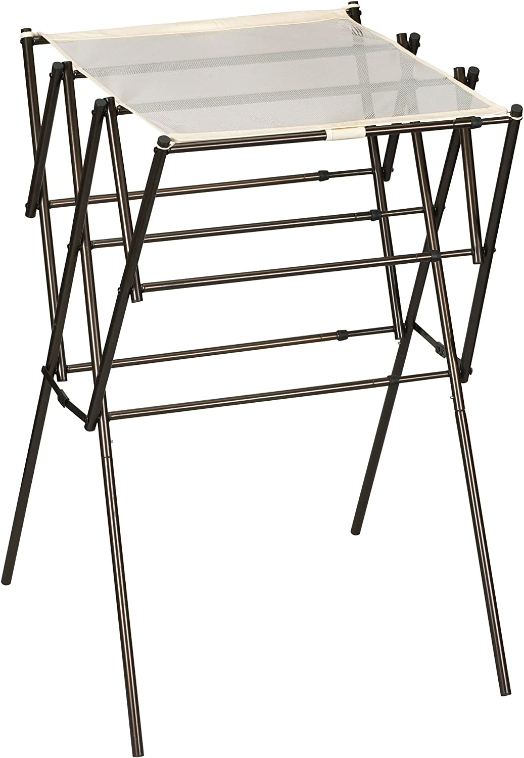 Household Essentials 5175 Collapsible Expandable Metal Clothes Drying Rack, Antique Bronze