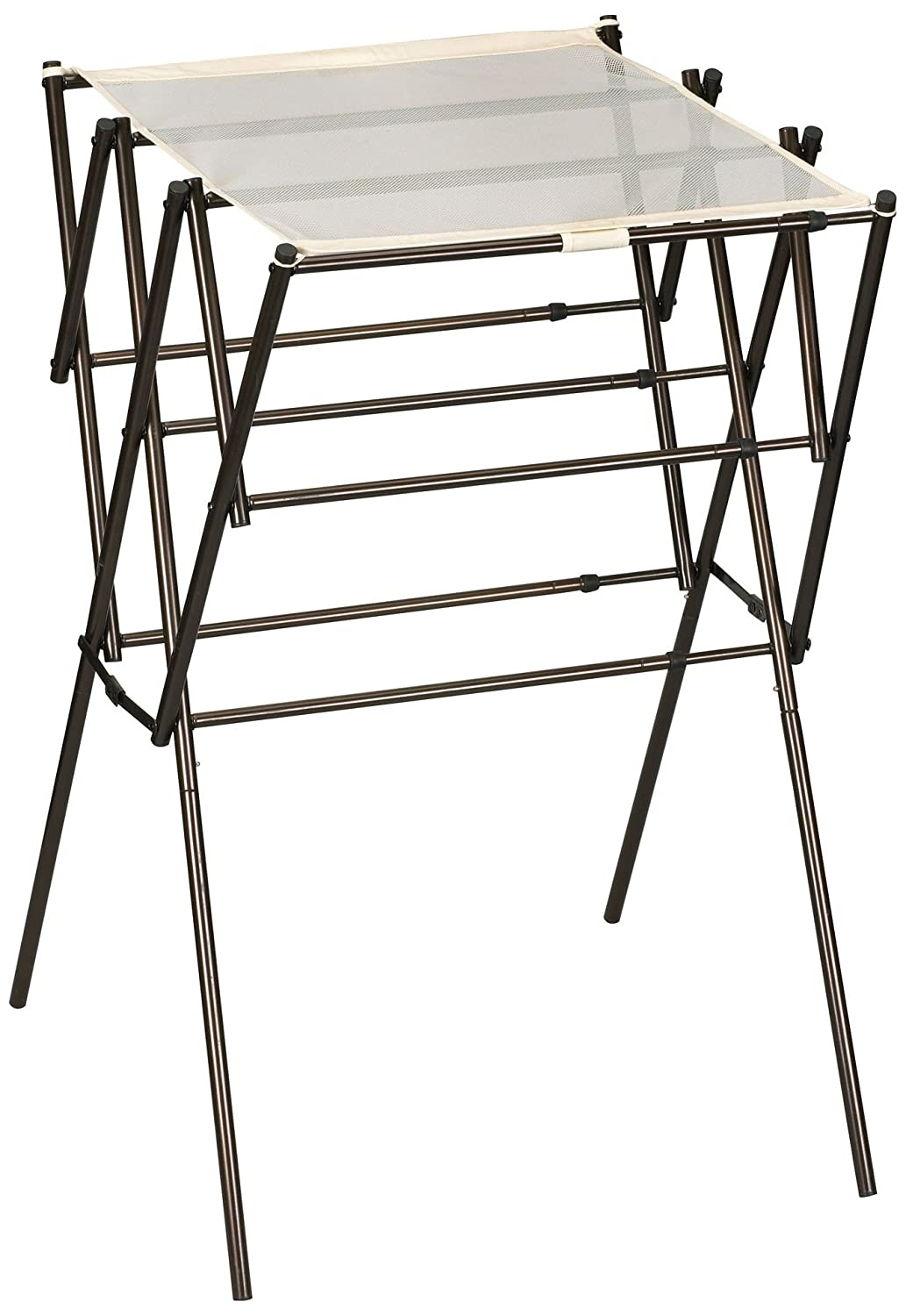 Household Essentials Expandable Clothes Drying Rack, Anitque Bronze 5175