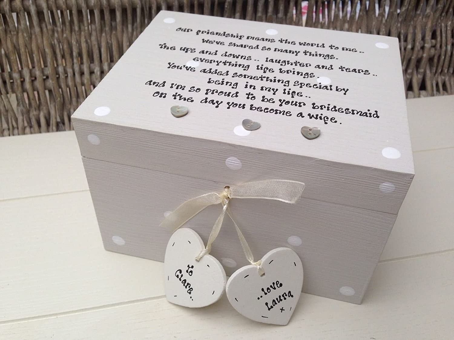 Shabby Chic Style Personalised Gift For Bride From Bridesmaid