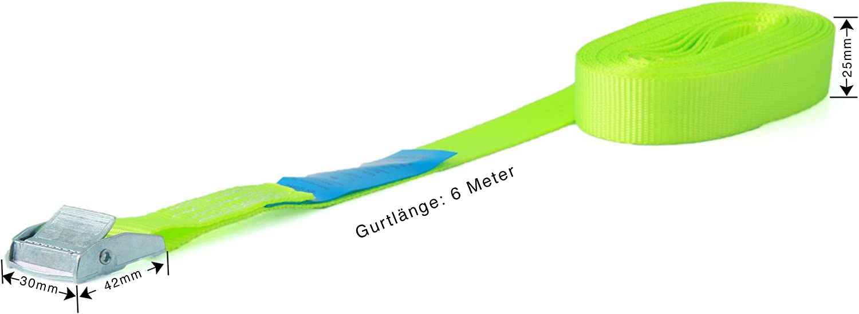 6 cinghie di fissaggio resistenti fino a 250 kg; larghezza 25 mm blu 1 pezzo da 3 m rosso verde oliva 4 m 5 m e 6 m in nero giallo fluo
