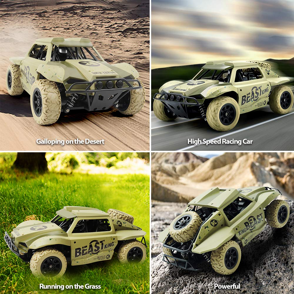 Gizmovine Remote Control Cars 4WD Large Size High Speed 15.5 MPH+ Racing Rc Cars Off Road for Kids and Adults , 2019 Version (Khaki) by Gizmovine (Image #4)
