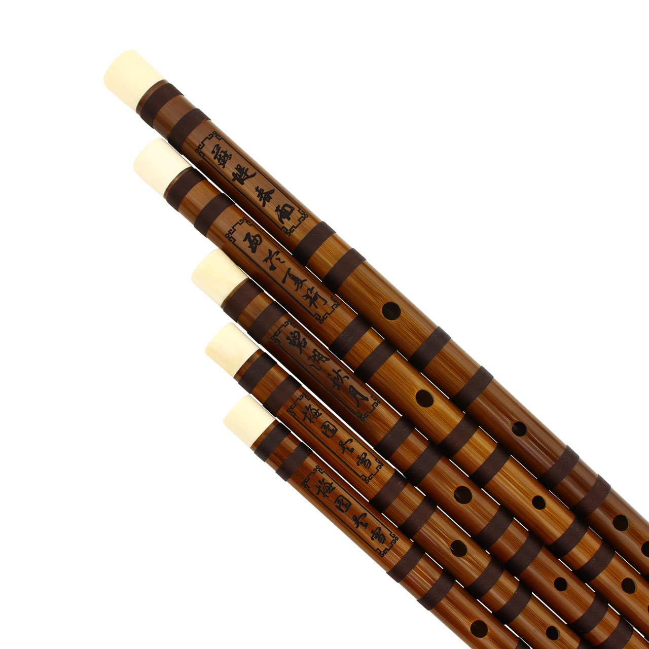 Eason Music - Best Dizi Bamboo Flute Set in the World - In C, D, E, F, G Key - Collector's Item