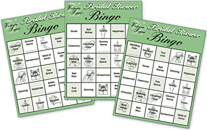 Amazon.com : Bridal Shower Party Bingo Cards - 24 Game Cards - Fun ...