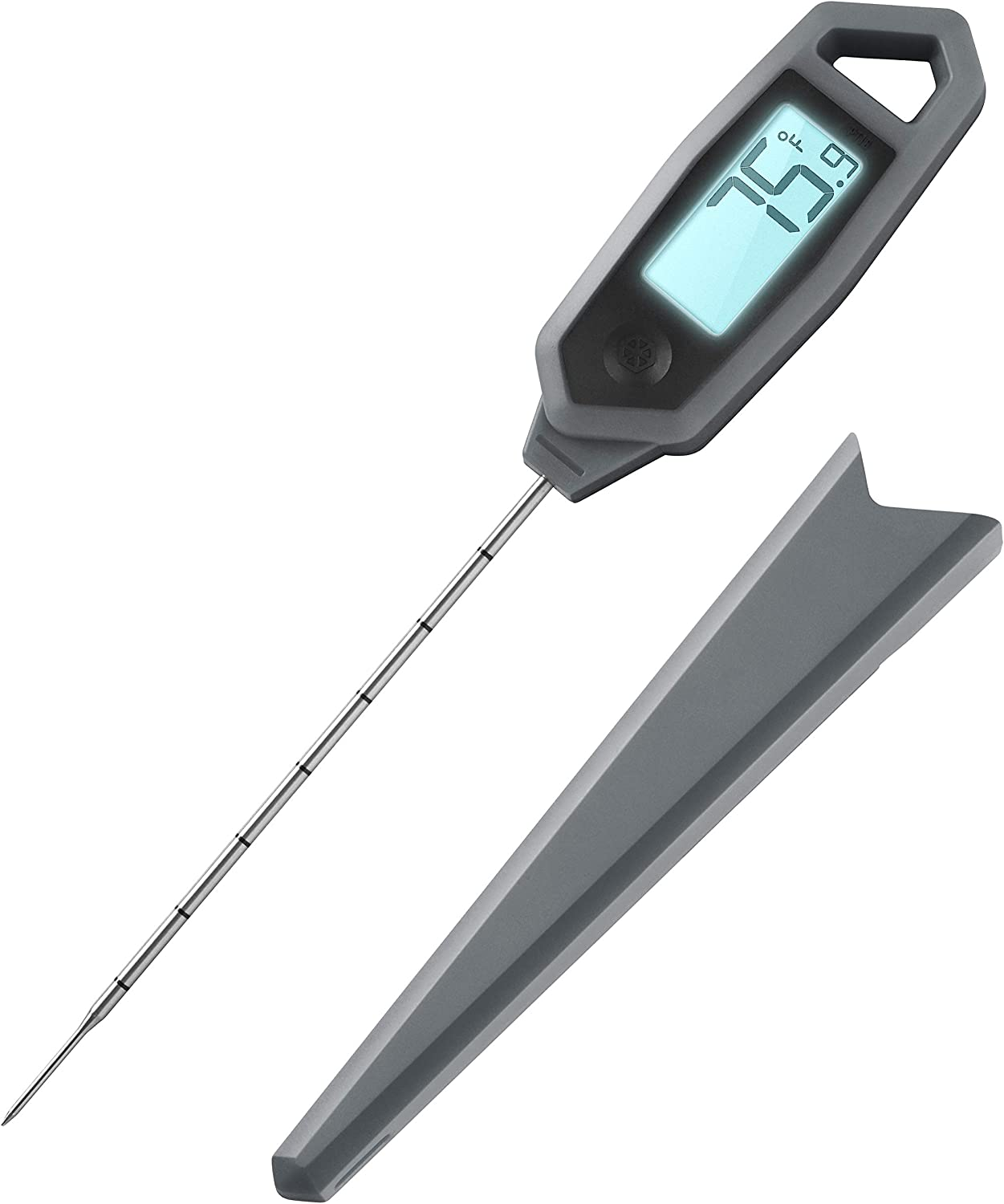 """Lavatools PT18 Professional Commercial 4.5"""" Ambidextrous Backlit Digital Instant Read Meat Thermometer for Kitchen, Food Cooking, Grill, BBQ, Smoker, Candy, Home Brewing, and Oil Deep Frying"""