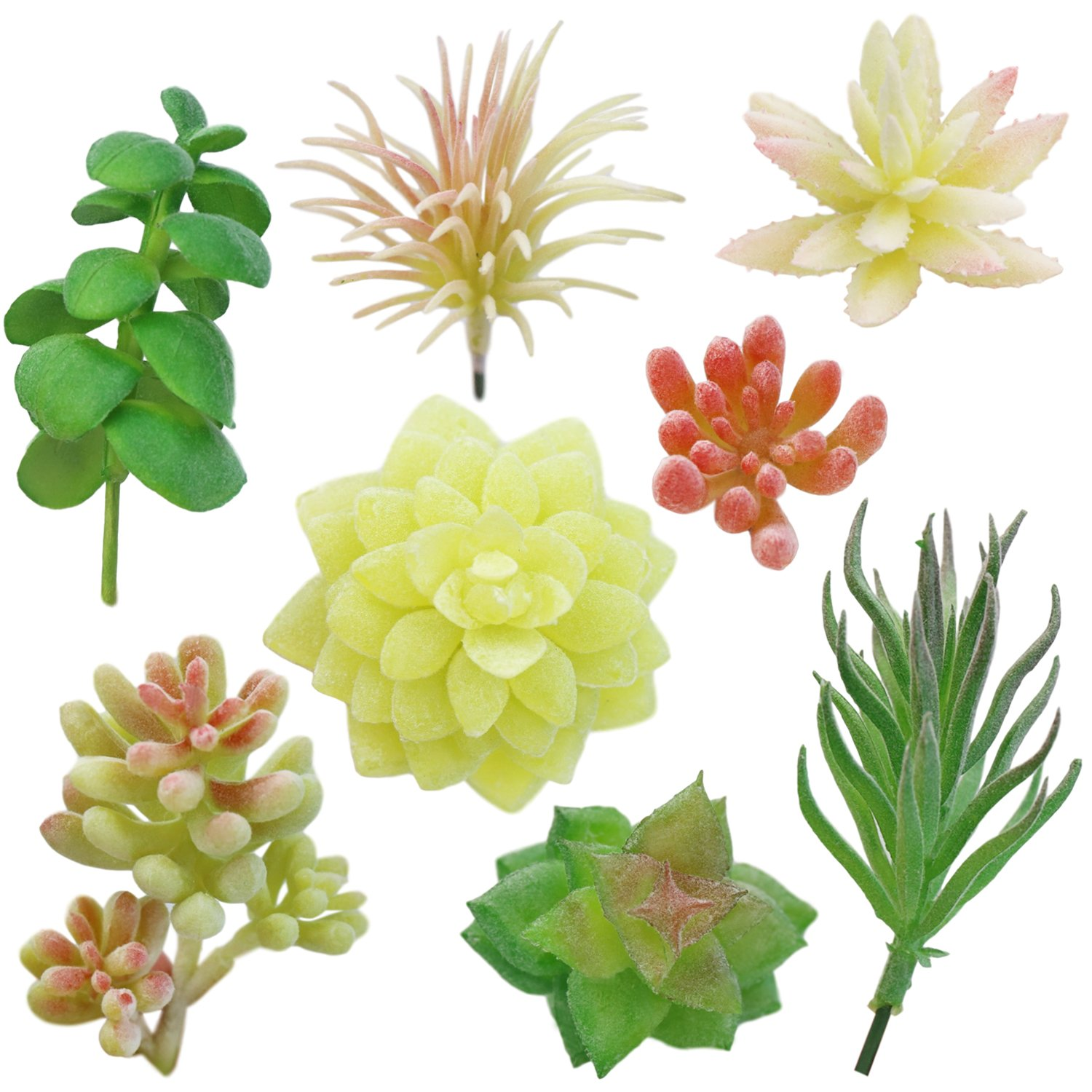 Amazon.com: N&T NIETING Mini Assorted Artificial Succulents Plants ...