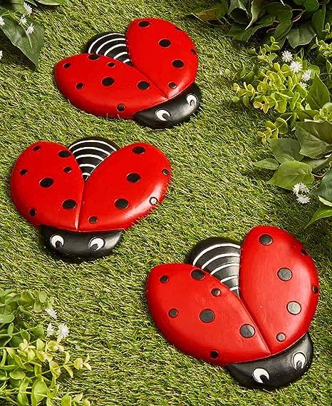Amazon Com The Lakeside Collection Ladybug Stepping Stones For