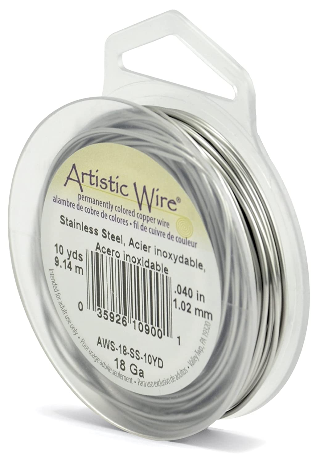 Amazon.com: Beadalon AWS-18-SS-10YD 18 Gauge Artistic Wire ...