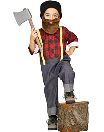 lumberjack woodsman paul bunyan boys child costume large 3t 4t