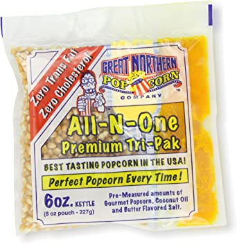 Great Northern Popcorn, 6-Ounce Portion Packs (Pack of 24): Amazon ...