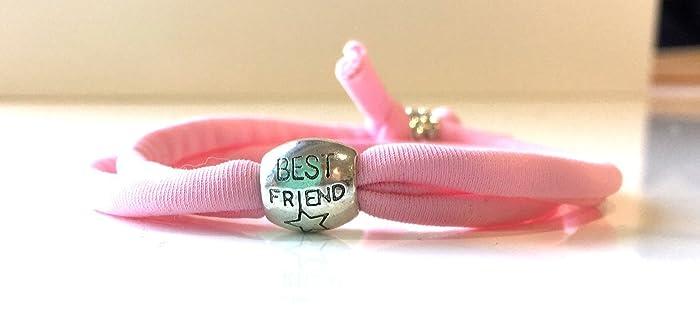 best friend lycra stretch wrap bracelet great gift for your bff friendship bracelet with