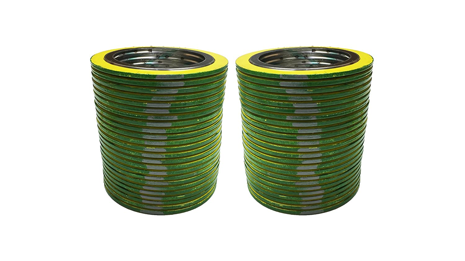 Pressure Class 300# for 2 Pipe Supplied by Sur-Seal Inc of NJ QTY: 48 for 2 Pipe Sterling Seal 90002316GR300X48 316L Stainless Steel spiral Wound Gasket with Flexible Graphite Filler Pack of 48 green Band with Grey Stripes