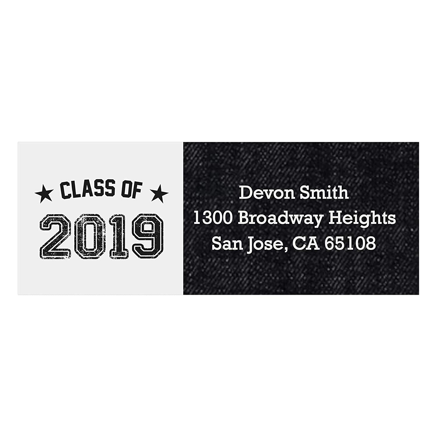 Custom all star grad personalized 2019 graduation party return address labels set of 30