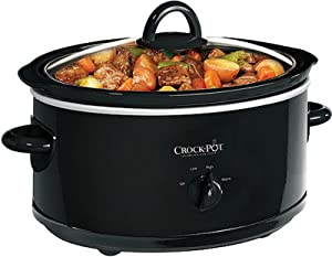 Crock Pot SCV700-B 7 Quart Black Oval Slow Cooker by Crock-Pot