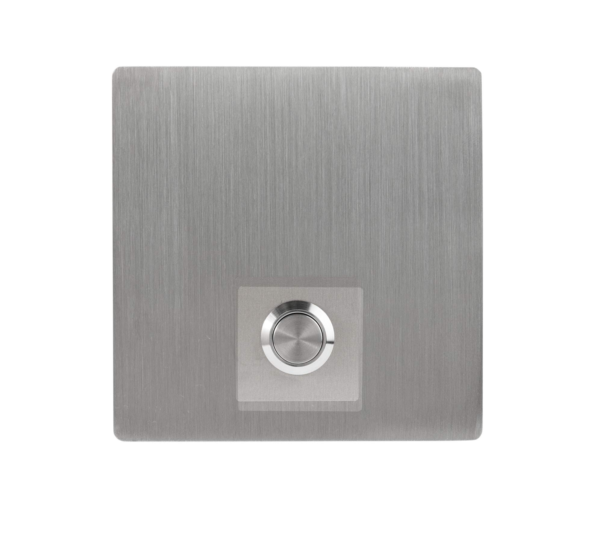 Modern Stainless Hardware Model S3 Stainless Steel Doorbell Button in grade 304 Stainless Steel 4mm thick