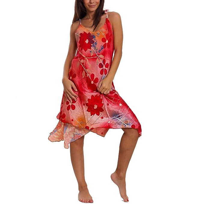 new style e2fa6 52bdf Toocool - Vestito Donna Abito Indiano Boho Chic Double Face ...