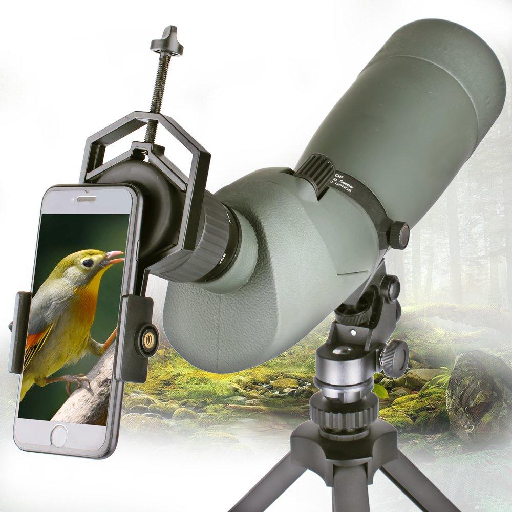 Landove Smartphone Adapter Mount for Spotting Scope Telescope Microscope Binocular Monocular - Adapter for Eyepiece Diameter 32mm to 62mm - for Phone Sony Samsung Moto Note Etc(Big Type) by Landove (Image #3)