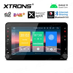 XTRONS Android 10.0 Car Stereo Radio Player 7 Inch Touch Screen GPS Navigation Bluetooth Head Unit Supports Android Auto Car Auto Play Backup Camera WiFi DVR OBD2 TPMS for Alfa Romeo Brera Spider