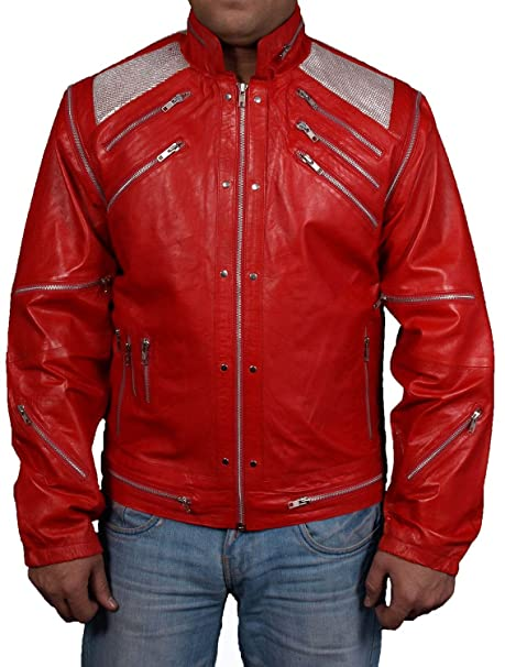 Rojo de Michael Jackson Beat It música vídeo sintética/Poliuretano chaqueta todos los tamaños disponibles