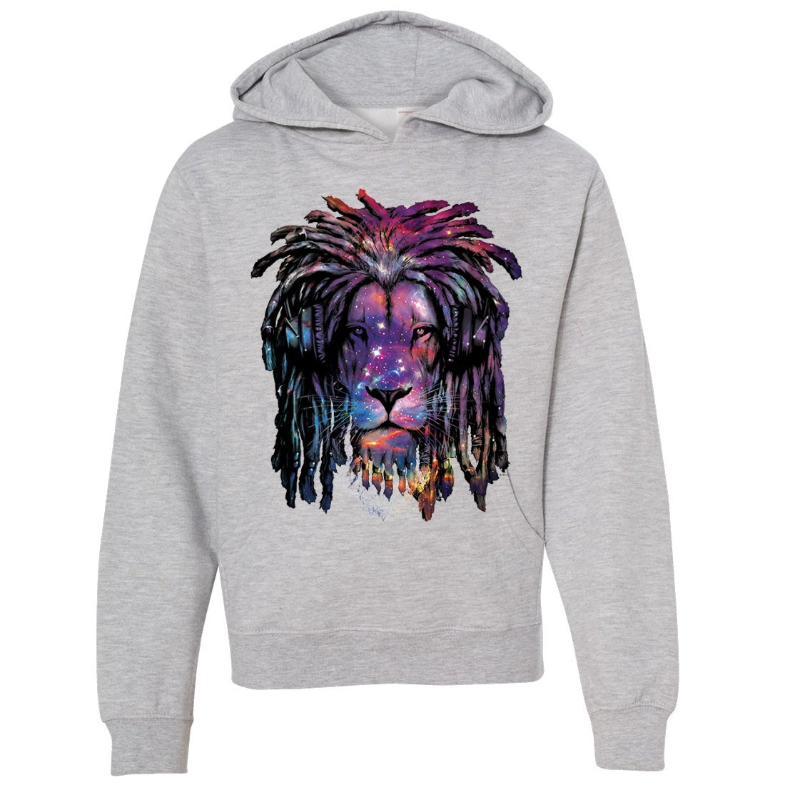 Dolphin Shirt Co Space Galaxy Lion Face Dreadlocks Youth Sweatshirt Hoodie