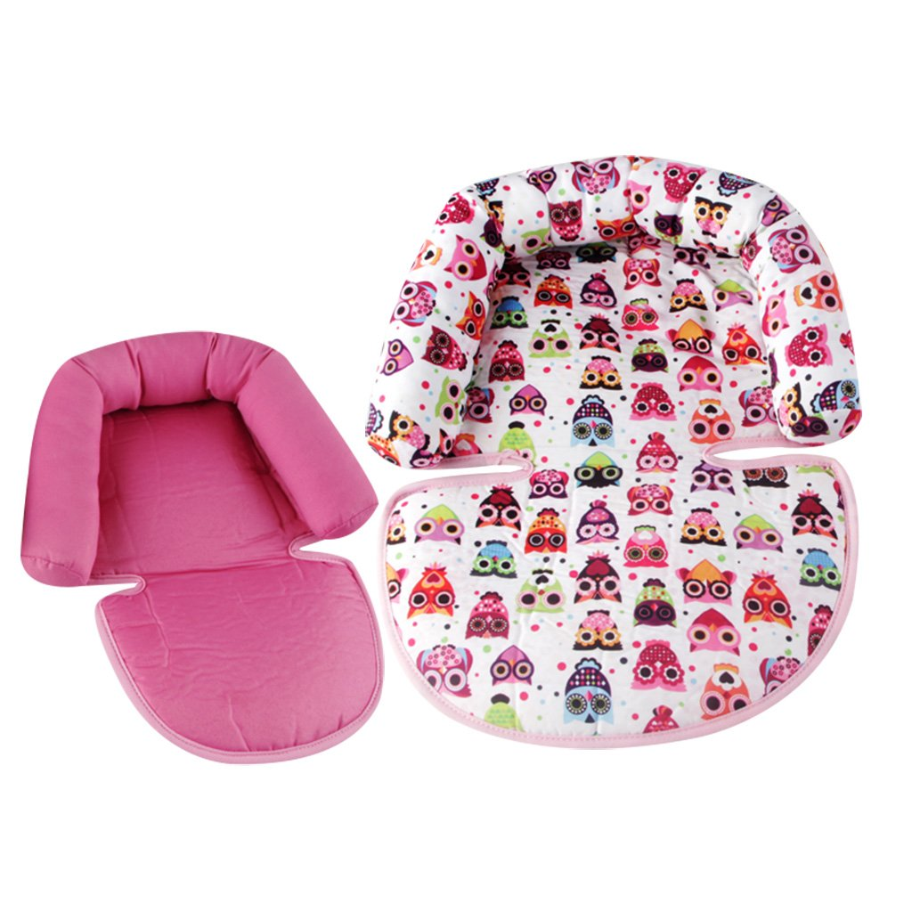 Infant Head Support for Car Seat, KAKIBLIN Baby Soft Neck Support Pillow, Pink by KAKIBLIN (Image #3)