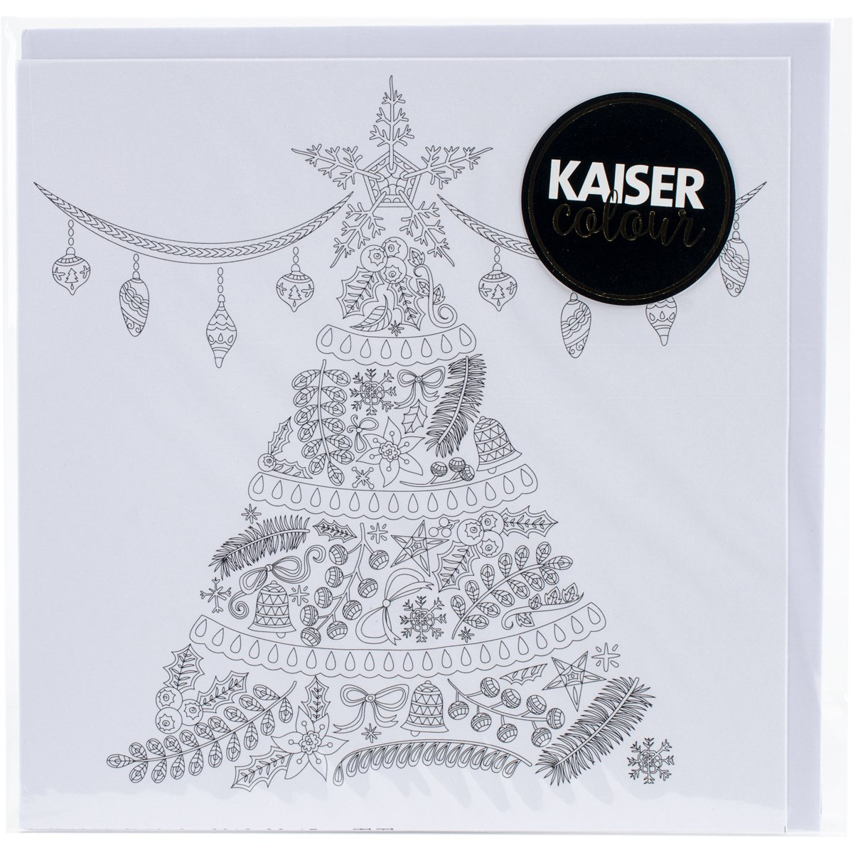 Kaisercraft'O Christmas Tree KaiserColour Gift Card with Envelope 6' x 6'