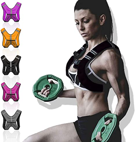 8kg /& 10kg Weighted Vest Home Gym Running Fitness Weight loss Strength Jacket Lions 5kg
