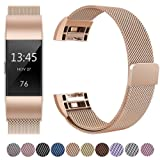 Amazon Price History for:GEAK Fitbit Charge 2 Bands Metal,Milanese Loop Stainless Steel Replacement Accessories Magnetic Metal Small & Large Bands for Fitbit Charge2, Silver, Gold, Rose Gold, Black, Colorful, Lavender