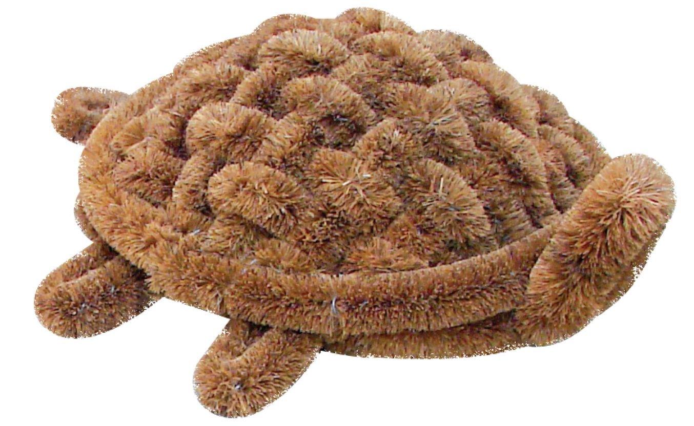 Turtle Pet Boot Scraper Doormat, Coco Fiber; 15 inch by 12 inch