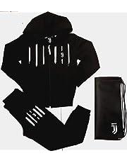 Completo Felpa + Pantaloni Tuta Bambino Ragazzo Juventus FC Juve Prodotto Ufficiale (Nero) + Omaggio Zainetto Porta Tuta