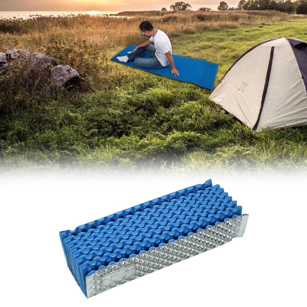 Vbestlife Foldable Camp Mat, Foldable Moisture Proof Camp Mat Blanket Sleeping Pad Mattress Egg Carton Structure Sleeping Mat for Camping Outdoor Sports (Blue) by Vbestlife