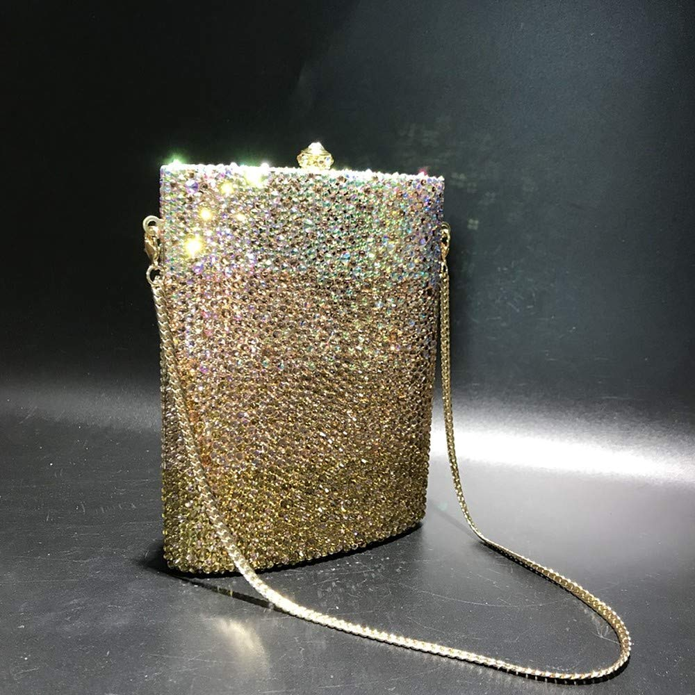 // Alloy Evening Bag Crystals Solid Color Gold 16530 Womens Bags PU Polyurethane
