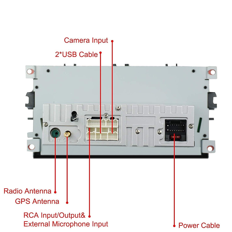Car Android Radio 8.1 Apto para Ford Focus Mondeo Galaxy S-MAX 2GB RAM 16G ROM Octa Core Indash 7 Pantalla Control t/áctil Capacitivo GPS Bluetooth Unidad Principal con Control del Volante WiFi