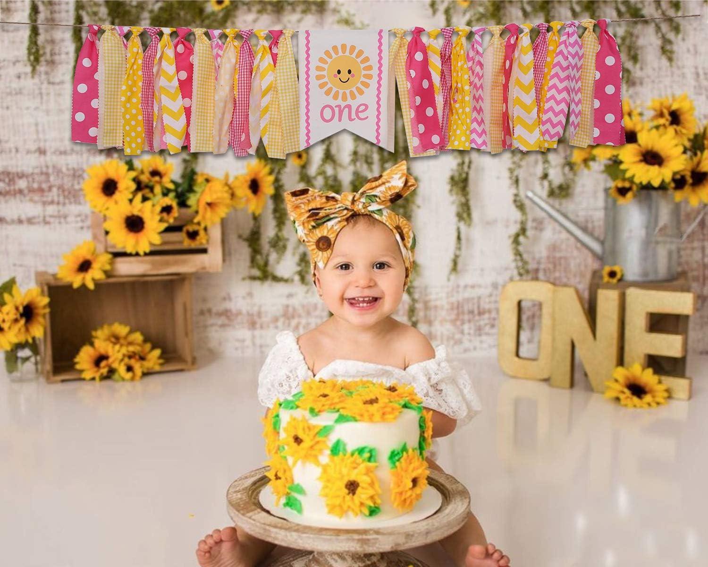 Birthday Souvenir Gift for Girls Cake Smash Props You are My Sunshine for 1st Banner Sunshine for 1st Banner Sunshine High Banner for Baby /'s First Birthday