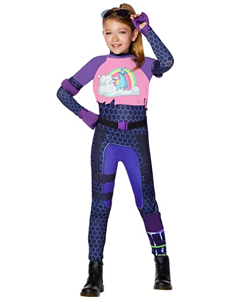 Spirit Halloween Girls Fortnite Brite Bomber Costume