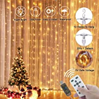 LEDGLE Decorative String Light Fairy Curtain Lights Versatile Indoor and Outdoor Icicle Light with Wireless Remote…