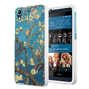HTC Desire 626s Case, HTC Desire 626 Case, Capsule-Case Slim Fit Snap-on White Hard Case for HTC Desire 626s / HTC Desire 626 - (Almond Branches In Bloom)