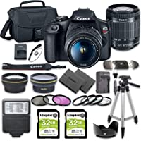 Canon EOS Rebel T7 DSLR Camera Bundle with Canon EF-S 18-55mm f/3.5-5.6 is II Lens + 2pc Kingston 32GB Memory Cards…