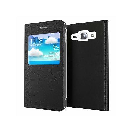 Lincivius Funda Samsung J5 2016, [Flip Cover View] Carcasa Samsung Galaxy J5 2016 con Tapa A Libro Finestra Estuche Resistente Anti Golpes Accesorios
