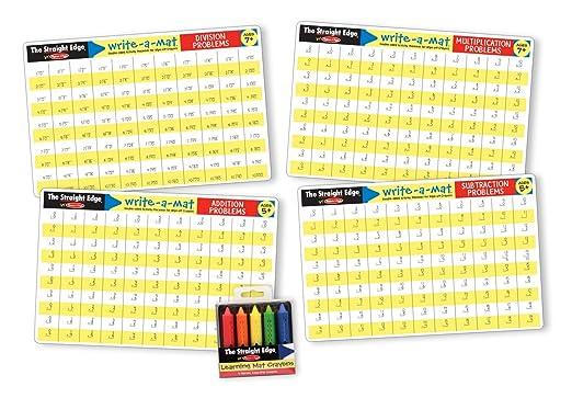 Amazon.com: Melissa & Doug Math Skills Placemat Set - Addition ...