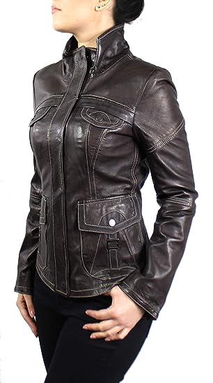 Lederjacke Melvi Klassische Damen Jacke aus echt Lamm