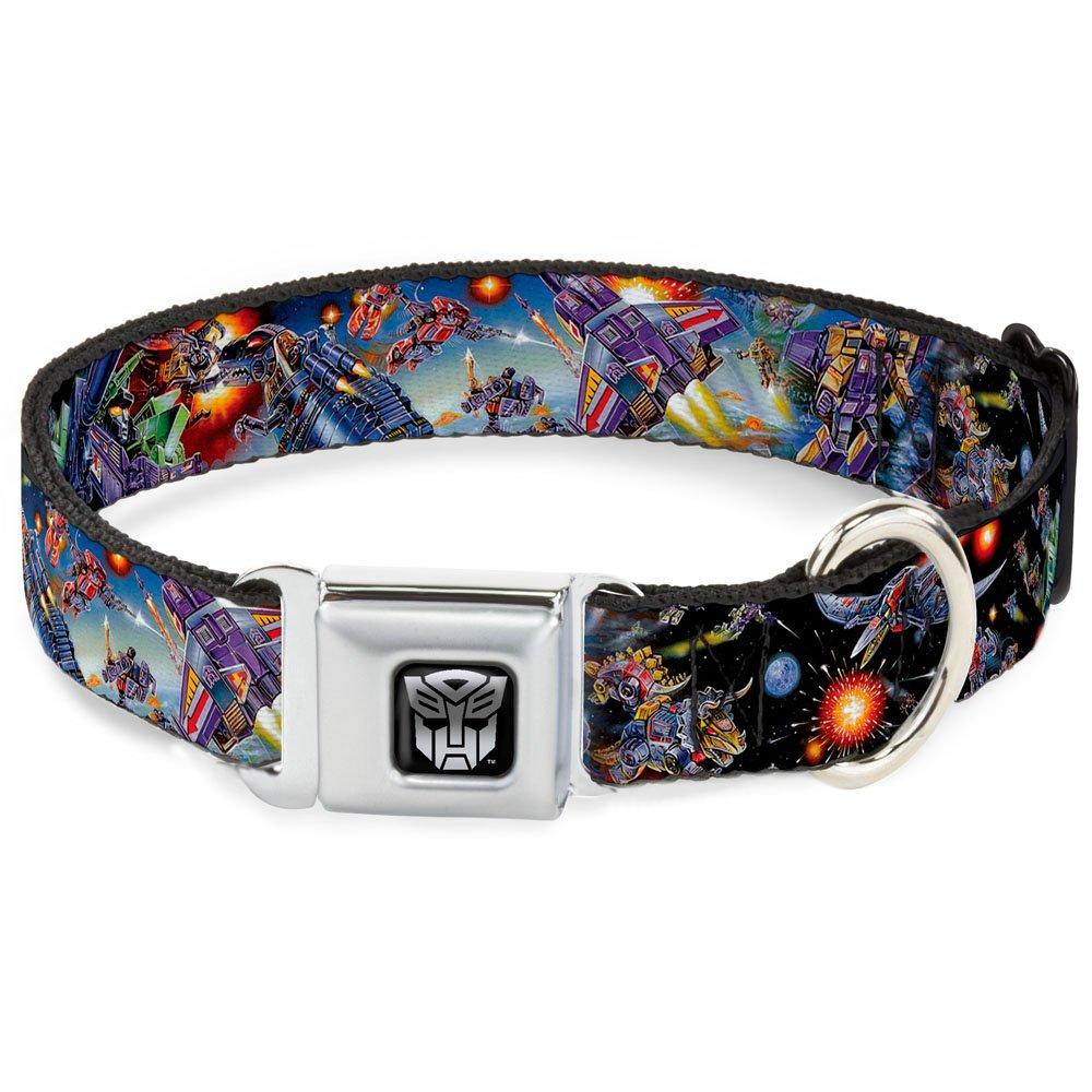 1.5\ Buckle-Down DC-WTF035-WL Dog Collar Seatbelt Buckle, Transformers '85 Box Art Battle Scene, 1.5  by 18-32