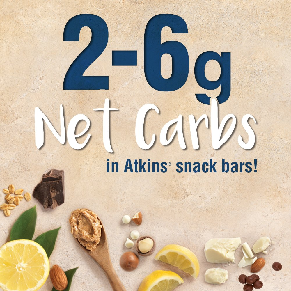 Atkins Gluten Free Snack Bar, Lemon Bar, 5 Count (Pack of 6) by Atkins (Image #5)