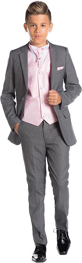 Paisley of London, En Gris Niño Traje, Corte Ajustado traje ...