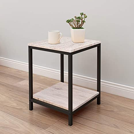 Marvelous Side End Table Coffee Snack Console Tables Slides Next To Sofa Couch Beside With Storage Shelf And Metal Frame For Home Living Room Uwap Interior Chair Design Uwaporg