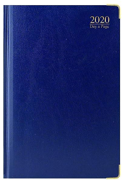 2020 - Agenda (A4, tapa dura, bordes dorados), color azul ...